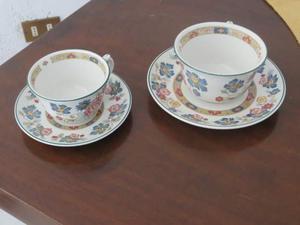Coppia tazze da the e caffè con relativi piattini
