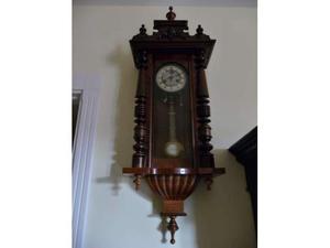 Orologio a pendolo da parete dell'800, marca jungan