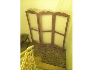 Splendito separè - paravento antico in legno laccato color