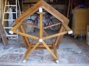Tavolo da gioco in legno di faggio