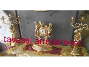 Tris orologio oro foglia modelli angeli