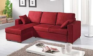 Divano letto rosso posot class - Divano letto angolare rosso ...