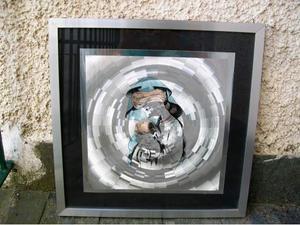 Litografia su alluminio Madonna con bambino