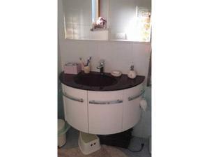 Mobile bagno stondato cm 90 bianco opaco posot class for Vendo mobile bagno
