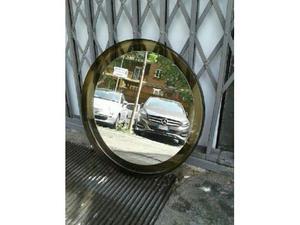 Specchio tondo bianco anni 70 vintage posot class - Specchio ad unghia ...
