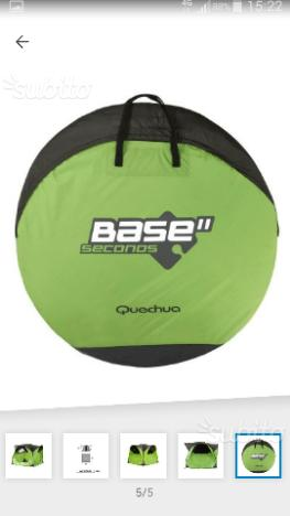 Tenda second base di colore verde