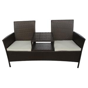 vidaXL Mobili da giardino in polirattan tavolino 2 sedie