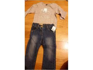 Maglietta e jeans 18 mesi