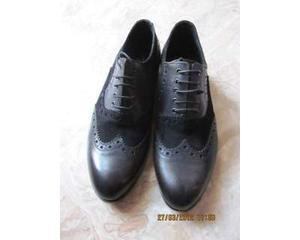 Scarpe da donna stile inglese, nere, N. 38