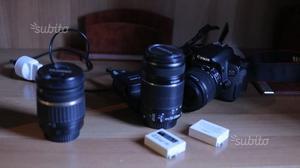 Canon EOS 650 D con 3 obiettivi