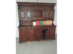Mobile vetrina legno massello col noce