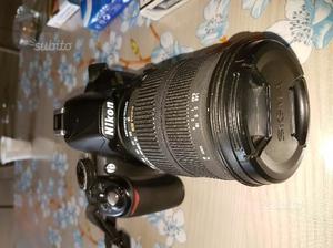 Nikon d con obbiettivo sigma