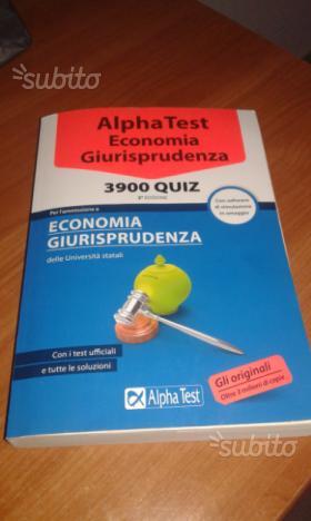Alpha test economia e giurisprudenza
