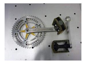 Pedaliera nervar  denti in alluminio bici anni 70