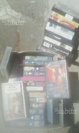 VHS cartoni animati(principalmente disney) e film