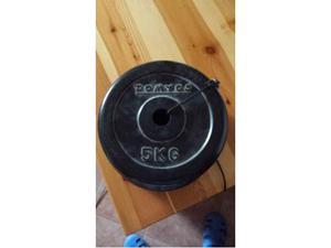 4 Dischi in gomma body building da 5 kg l'uno