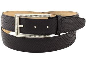 Cintura nero da donna in vero pitone con strass