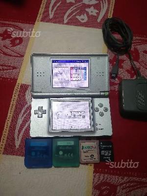Nintendo Ds Lite Grigio Metalizzato con Giochi