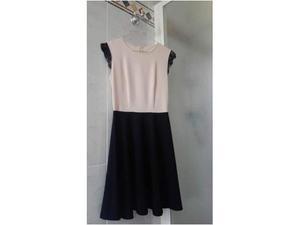 Vestito elegante Motivi,colore nero e rosa cipria,taglia M