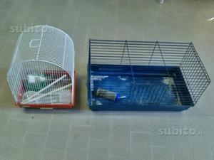 Gabbia coniglio e gabbia uccelli con accessori