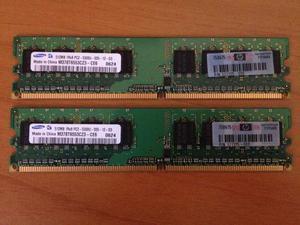 Kit Ram 2x 512mb (1gb) Samsung pcu--D mhz