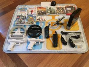 Nintendo Wii Nera + Giochi + Accessori