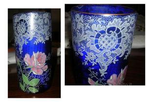 Raffinatissimo vaso in vetro di fine '800