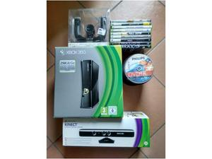 Xbox360 slim 250gb +kinect+volante wireless