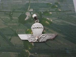Brevetto Paracadutisti ciondolo in argento