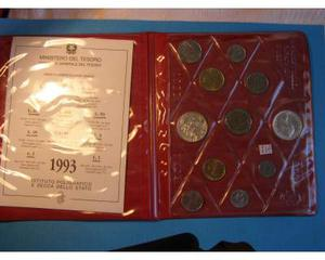 Serie completa di 11 monete Italiane FDC