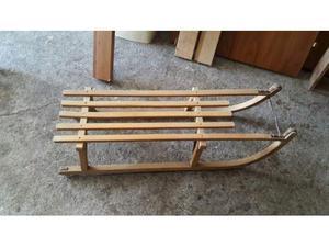 Slitta vintage vecchia antica slittino legno vintage antico