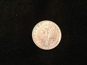 - V.E. III - 1 lira argento aquila sabauda