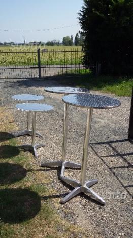 1 tavolo e 4 sedie da bar in alluminio 85 e