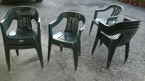 11 sedie in plastica da esterno