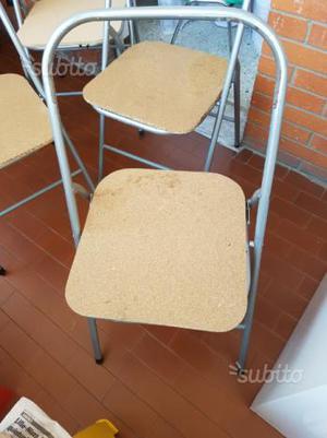 4 sedie pieghevoli da rivestire