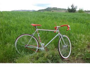 Bici corsa bianchi single speed fixed gear