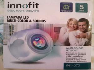 Lampada innofit con varie tonalità di colore e suoni