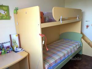 Scrivania con letto a castello posot class - Letto a castello con scrivania ...