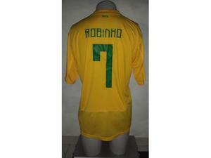 Maglia brasile 7 robinho calcio real madrid