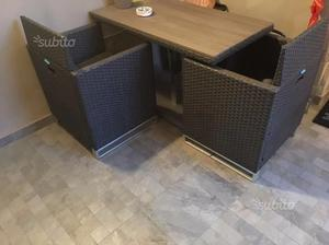 Set Tavolo Da Giardino x2
