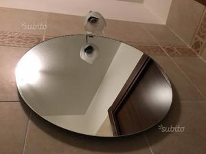 Specchio rotondo da bagno in tek design aoki posot class - Specchio rotondo bagno ...
