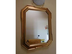 Specchio molato con cornice oro decorata a mano posot class - Specchio cornice oro ...