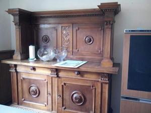 Credenza Con Piedini : Credenza vetrina soggiorno a zampa di leone posot class