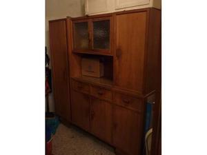 Credenza con mobile in legno massiccio anni 40