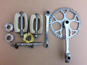 Guarnitura bianchi per bici epoca ruote 20 tipo graziella