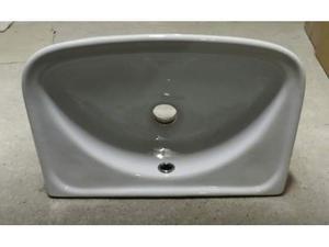 Lavabo a parete rettangolare cm.41x26 bianco