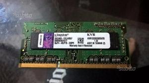 Memoria kingston 2GB DDR3 RAM PER notebook
