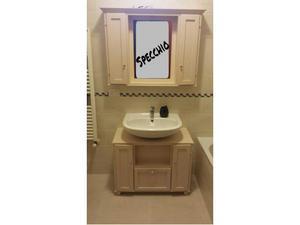 Mobile artigianale per bagno in ebano posot class for Vendo mobile bagno