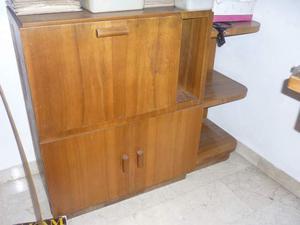 Mobile d'angolo in legno massiccio anni 60