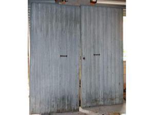 Portone per capannone a 2 ante scorrevole usato posot class for Portone garage usato